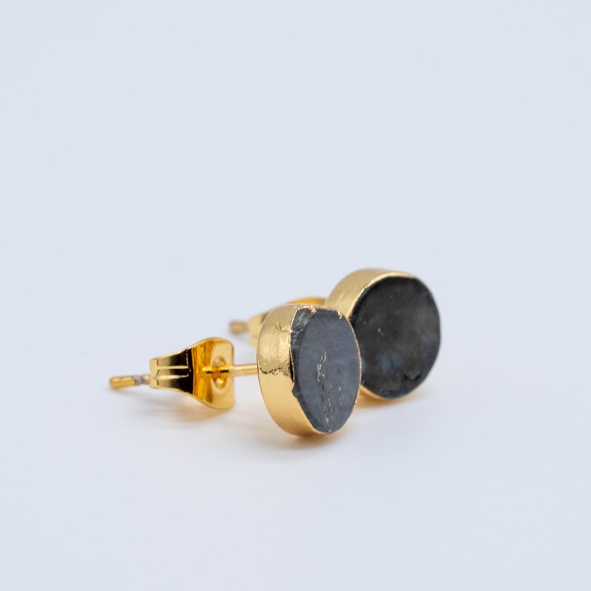 ORS-009 oorstekers labradoriet goud