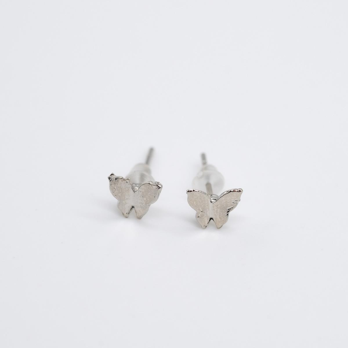 ORS-014 oorstekers vlindertje zilver