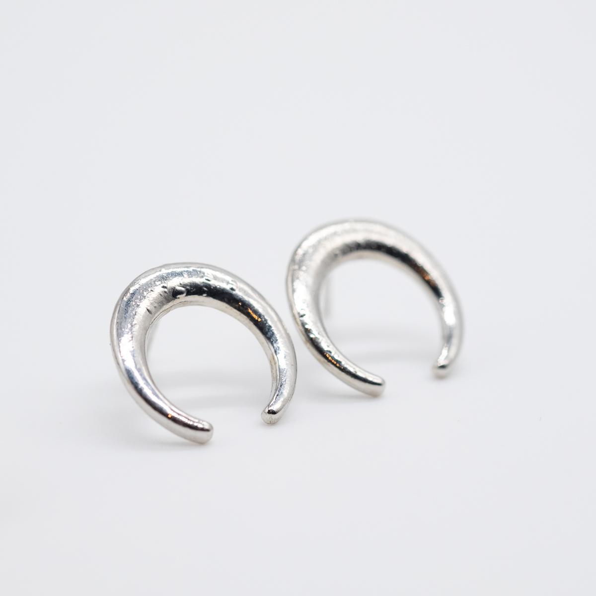 ORS-015 maan oorstekers zilver