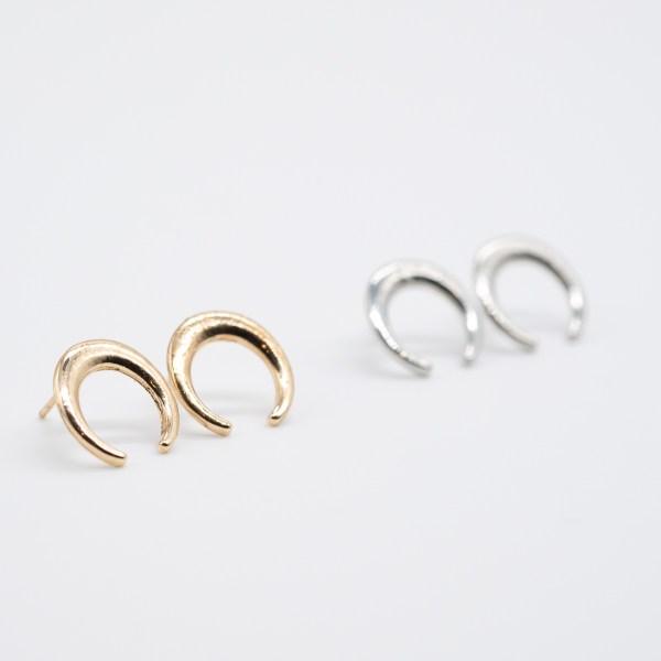 ORS-015 wicca oorringen goud zilver