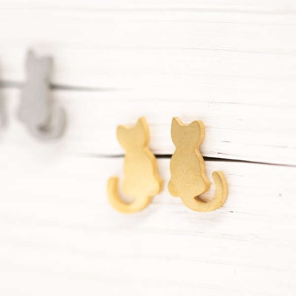 ORS-020 kat oorstekers goud metaal