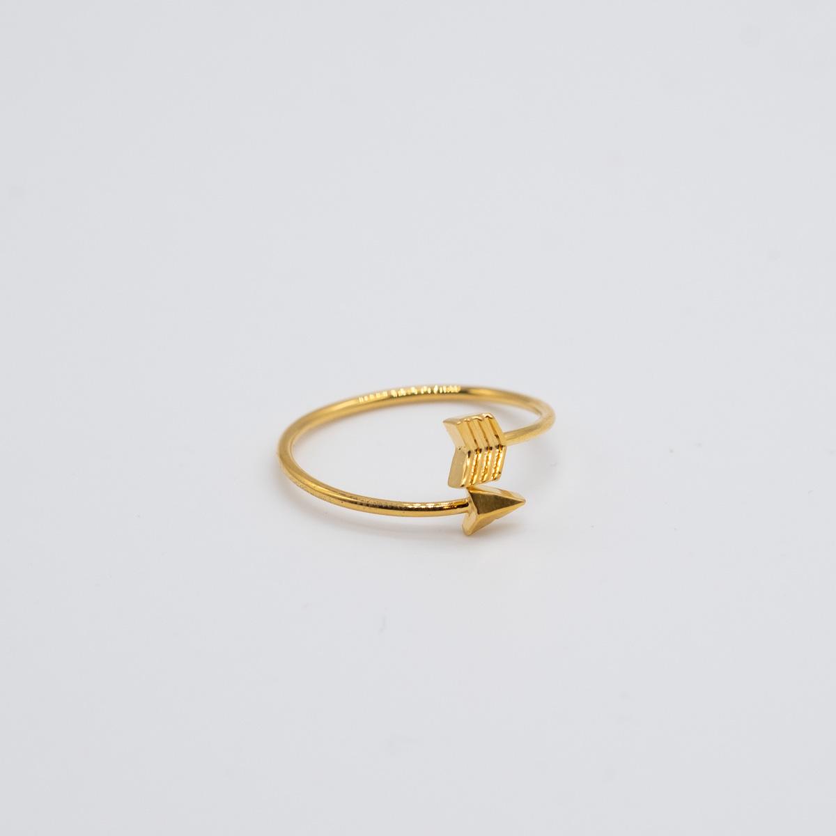 RNG-004 goud ring bohemian pijl