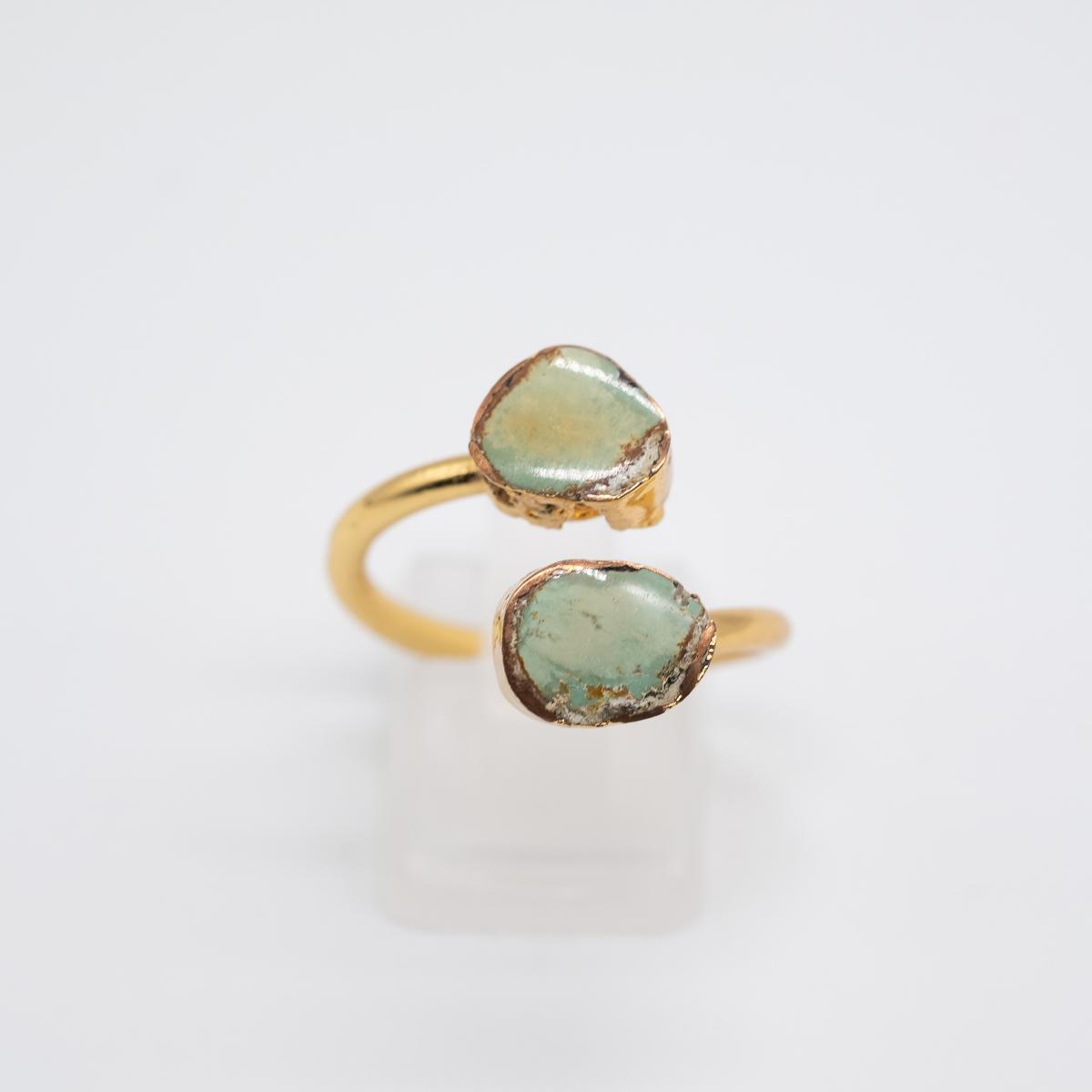 RNG-009 groene turkoois ring