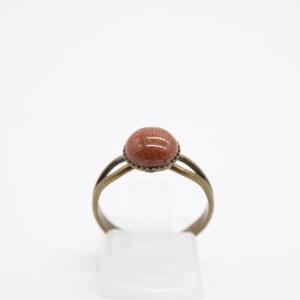 Bruine goudsteen ring kopen handgemaakt