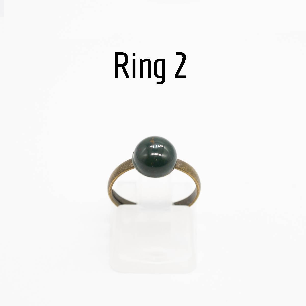 RNG-019 groene jaspis ring type 2
