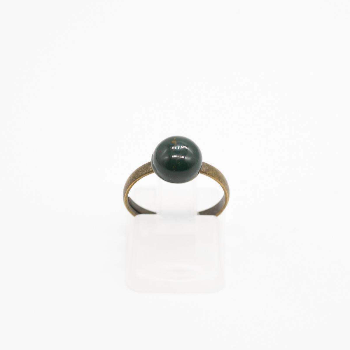 RNG-019 jaspis groen ring brons