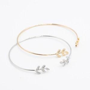 Bohemian armband blaadje goud zilver metaal kopen