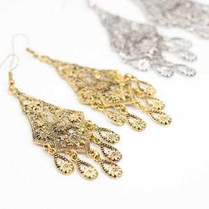 goudkleurige chandelier oorbellen kopen