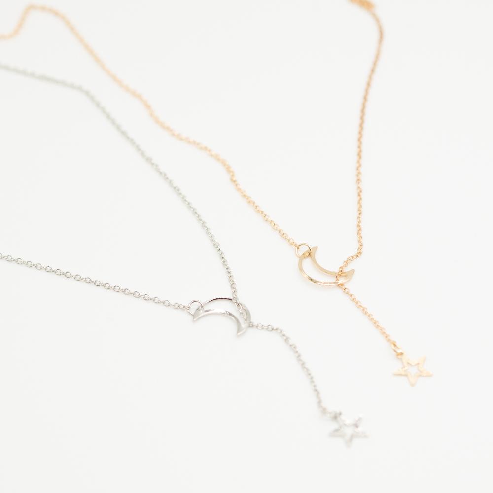 KET-024 ibiza ketting maan ster goud zilver