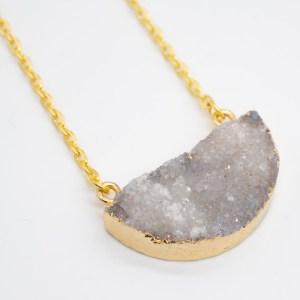 grijze agaat ketting handgemaakt goud kopen