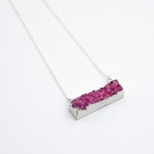 paars roze agaat handgemaakte ketting online kopen webshop girls of the wild girlsofthewild.com
