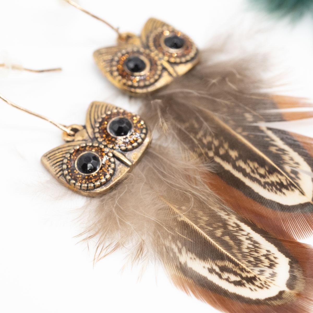 ORB-071 ibiza oorbellen bruine uil kopen