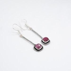 zilveren oorbellen met robijn online kopen webshop