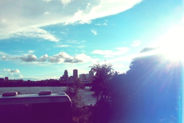 Montreal Skyline From Parc Jean Drapeau. © Girls On Games / Catherine Smith-Desbiens