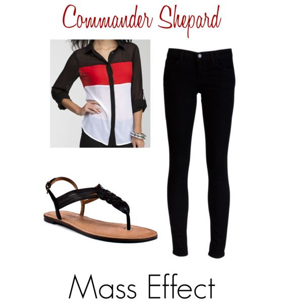 Commander Sheppard inspired outfit by  elocinecko on Polyvore