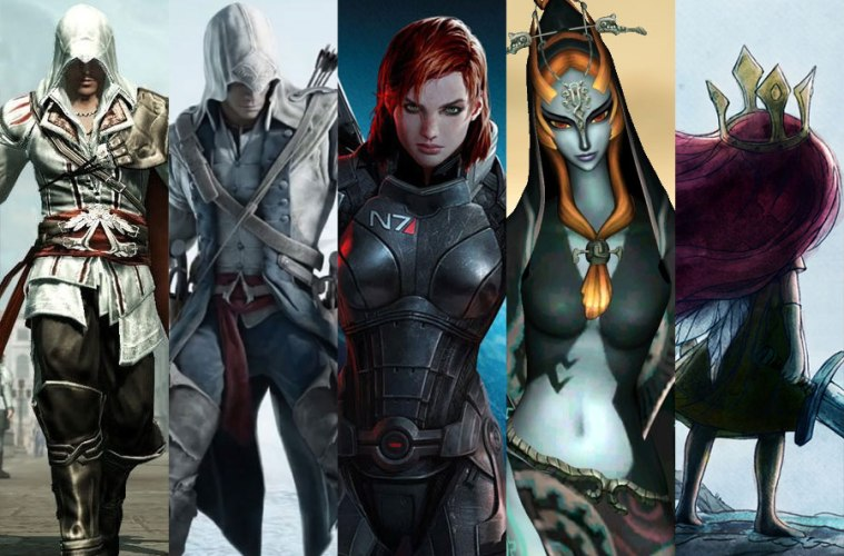 Video Game Inspired Outfits - images © Ubisoft, BioWare and Nintendo