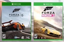 Forza Motorsports 5 and Forza Horizon 2 Boxart