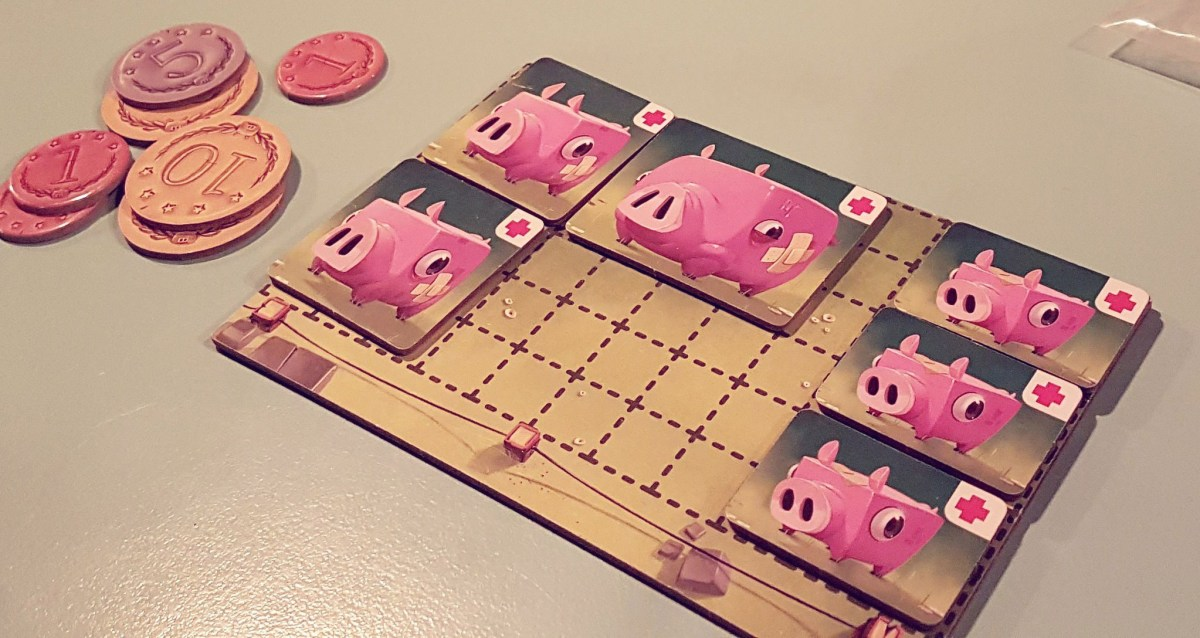 A game of Happy Pigs at Randolphe Pub Ludique (photo by Catherine Smith-Desbiens / Girls on Games)