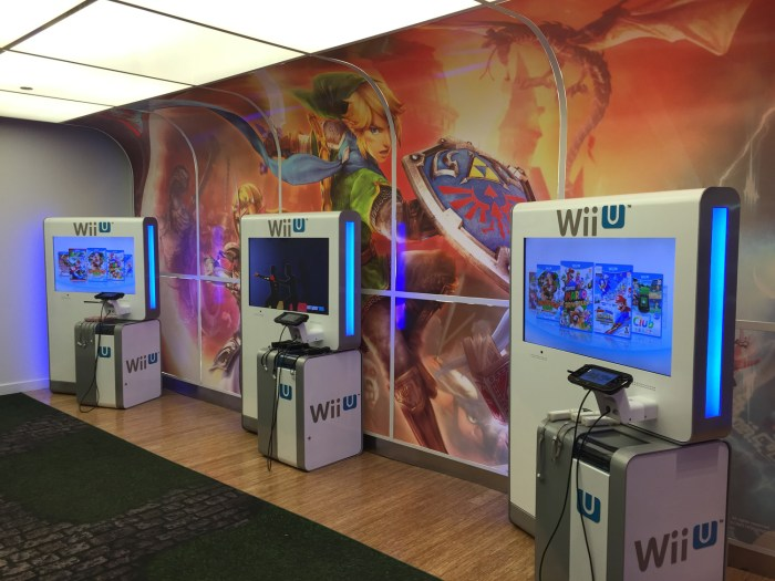Hyrule Warriors Wii U demo at the Nintendo World Store in NYC © Leah Jewer / Girls on Games