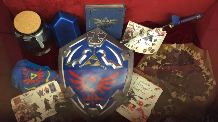 Inside the Zelda treasure chest at the Nintendo World Store in NYC © Leah Jewer / Girls on Games