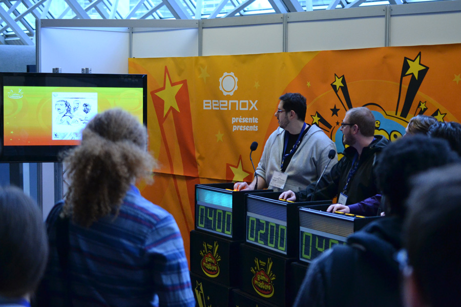 """The Beenox """"Game Masters"""" trivia game show at MIGS © Catherine Smith-Desbiens / Girls on Games"""