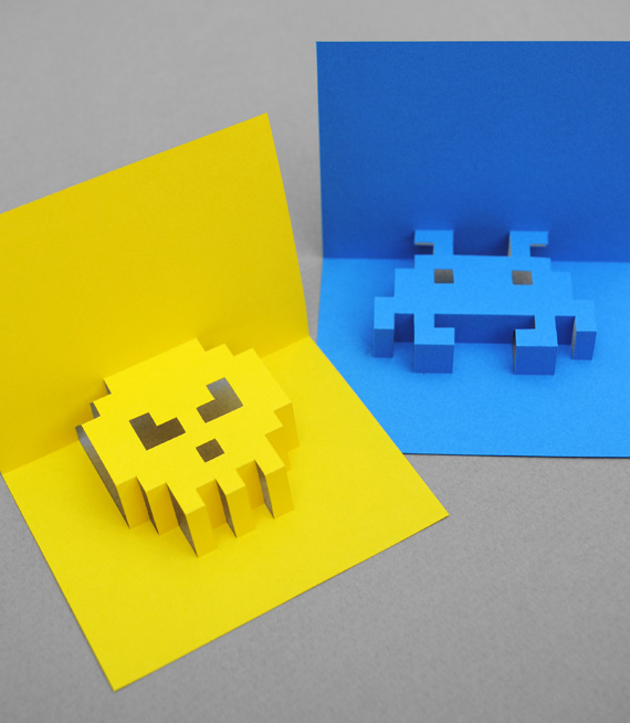 8-bit Popup Cards by minieco