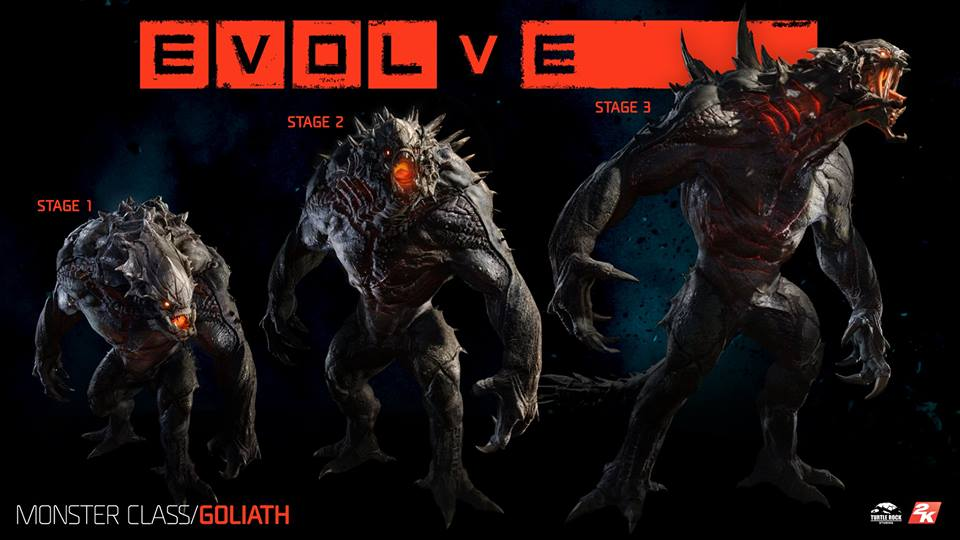 Goliath stages of Evolution  (image © Turtle Rock Studios)