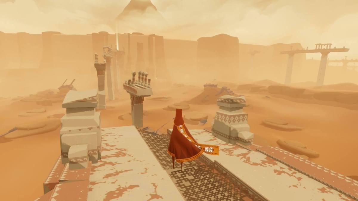 Journey on PS4 - screenshot taken via PS Share