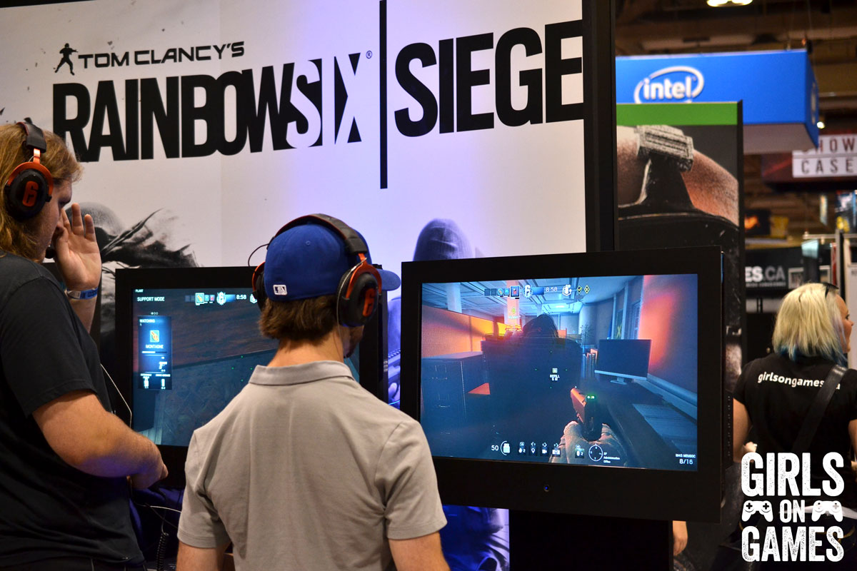 Tom Clancy's Rainbow Six Siege at the Ubisoft booth at Fan Expo 2015.