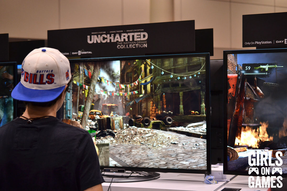 Uncharted: The Nathan Drake Collection at the PlayStation Booth at Fan Expo 2015.