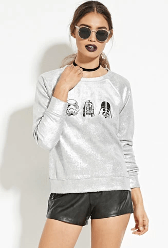 Star Wars Graphic Metallic Pullover