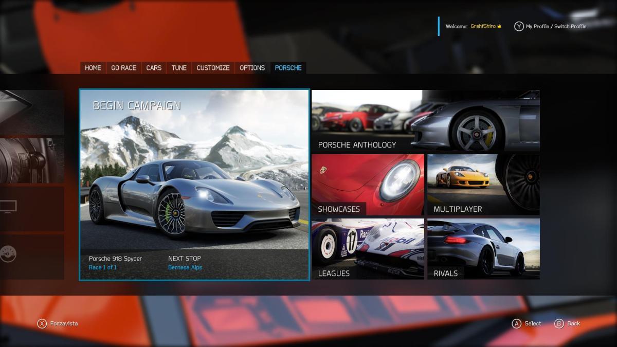 Porsche expansion intro screen