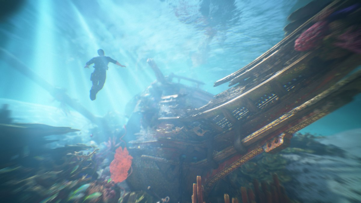 Breathtaking underwater view from Uncharted 4: A Thief's End. Image from Sony