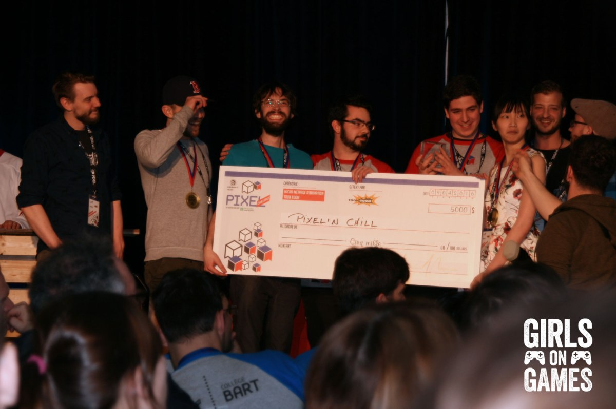 Pixel'n Chill won the grand prize for the animation competition.