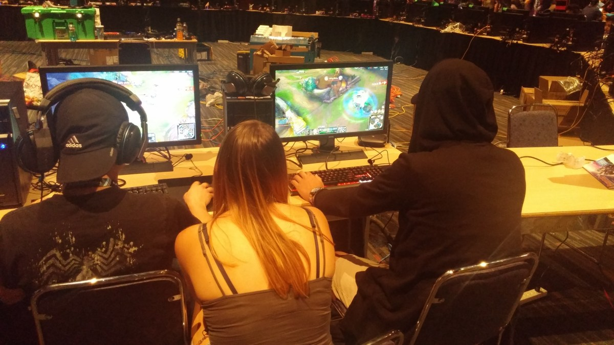 League of Legends had a huge section to itself, like last year.