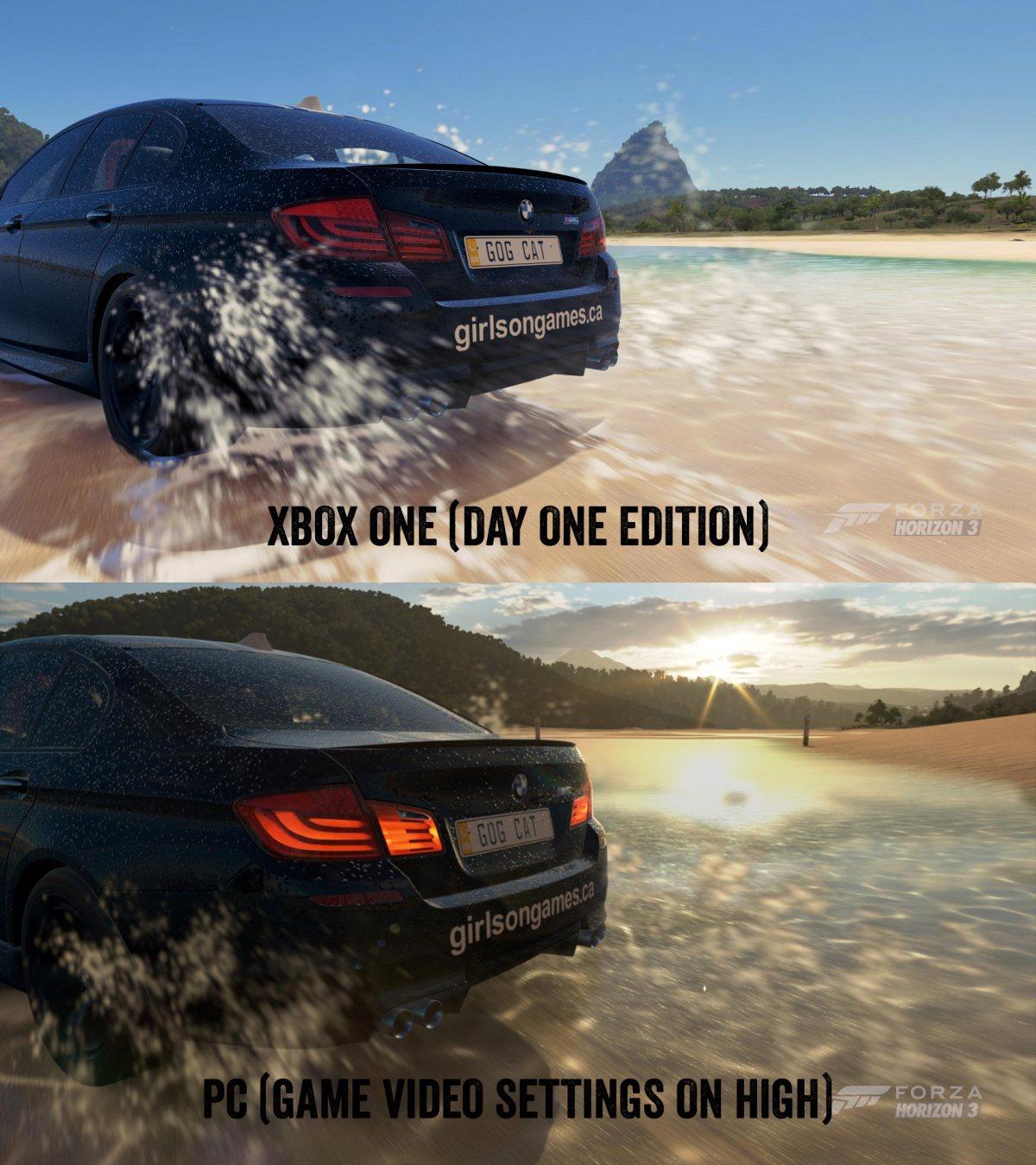 Forza Horizon 3: XB1 vs PC