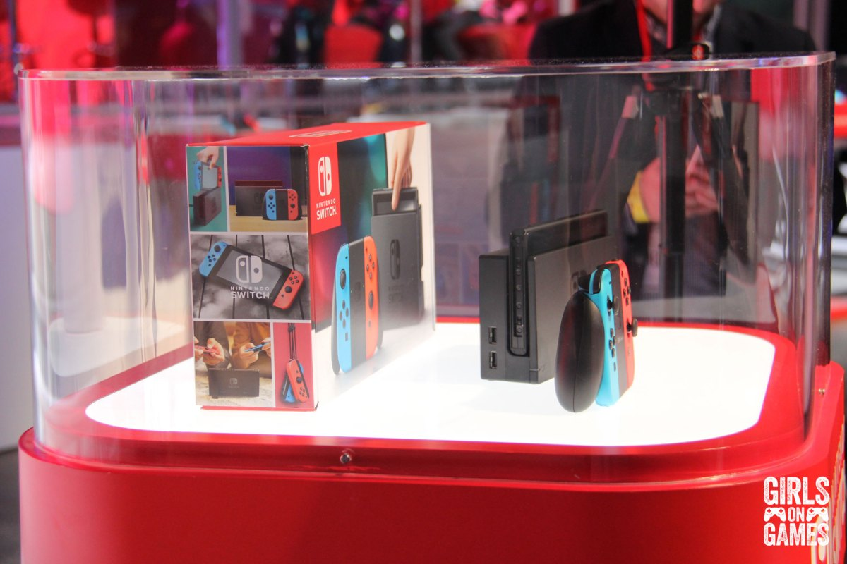 Nintendo Switch on display. Photo: Leah Jewer / Girls on Games