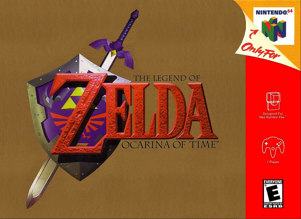 The Legend of Zelda: Ocarina of Time box