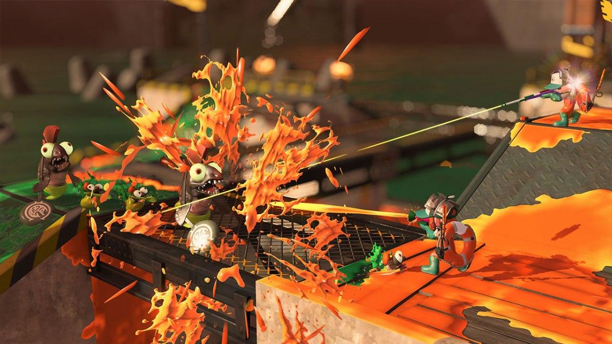 Splatoon 2 Salmon Run screen shot. From Nintendo