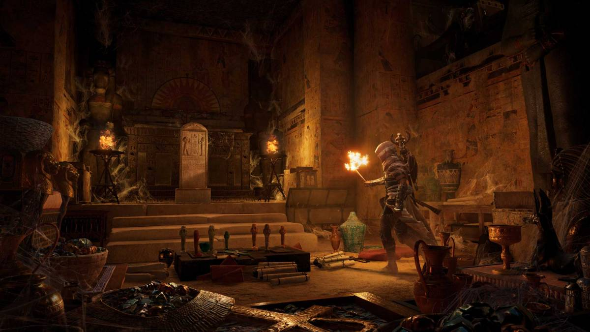 Assassin's Creed Origins Tomb Stellae. Photo from Ubisoft