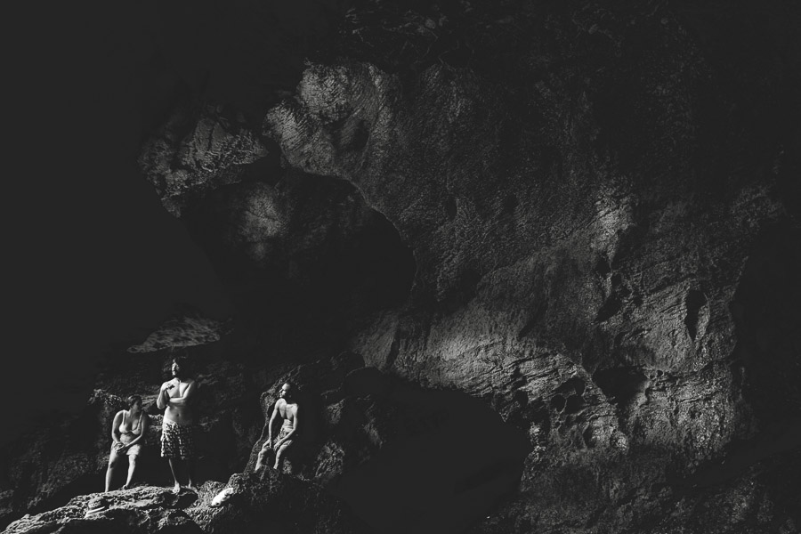Travel Photography Tips for Non-Photographers: These cave divers took a little break while swimming in Cueva del Indio, Puerto Rico. They were sitting in the perfect light, so I HAD to photograph them.