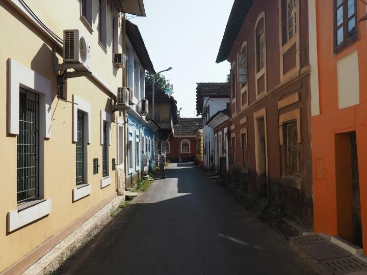 Portuguese street in central Goa