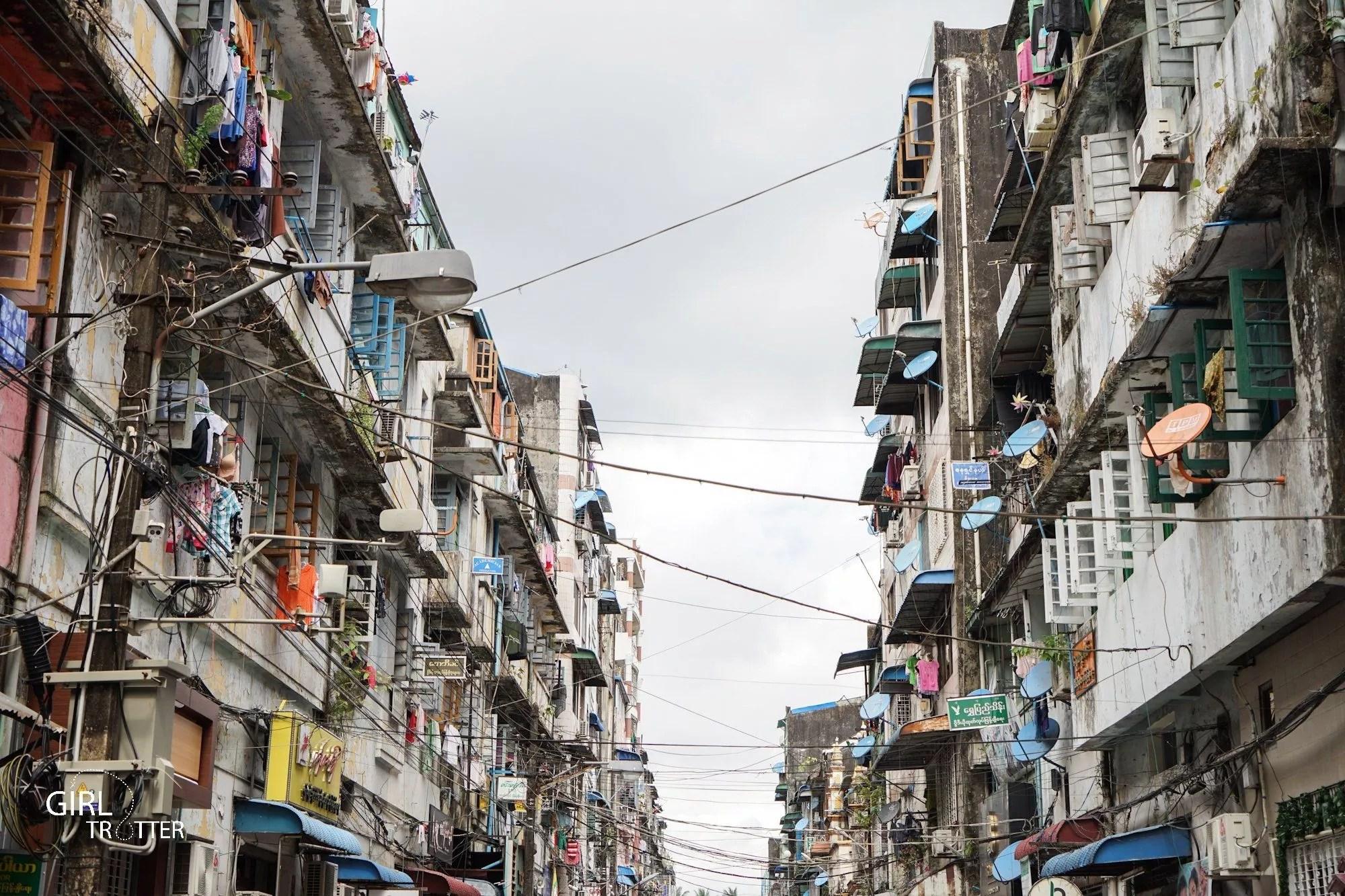 Centre ville de Yangon