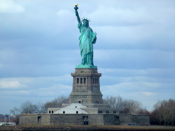 Statue of Liberty as seen from Staten Island Ferry