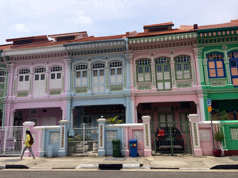 Traditional Peranakan shophouses in Joo Chiat