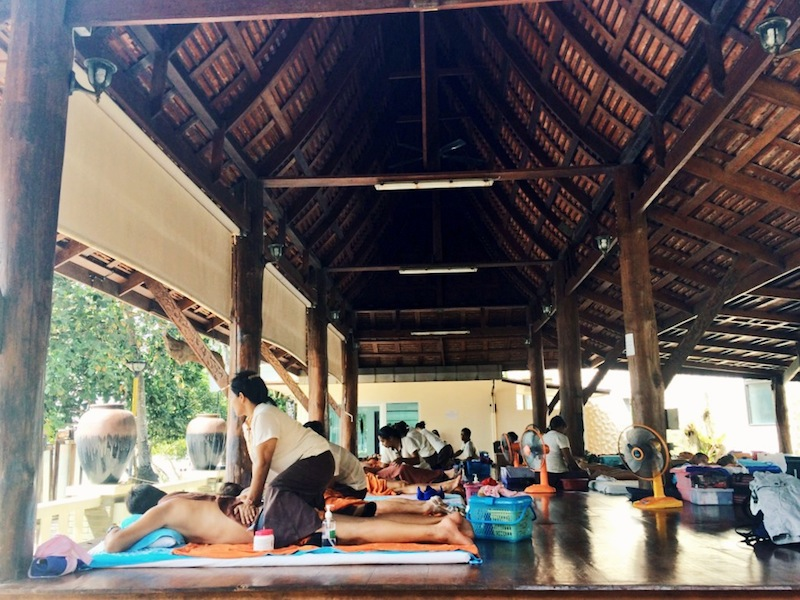 Thai massage - like passive yoga