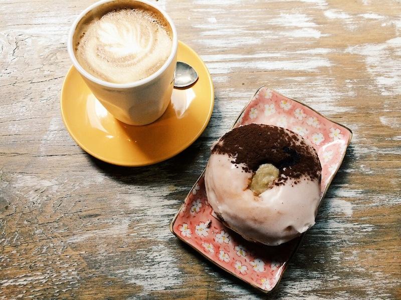 Banana cream, hand glazed Doughboys Doughnut at Kinship & Co