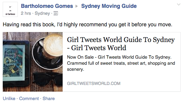 GTW Guide To Sydney Recommendation