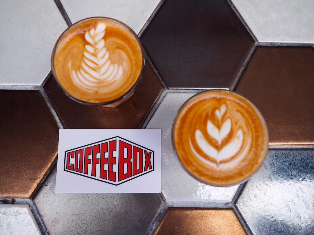 Your coffee is served at Cofee Box Espresso