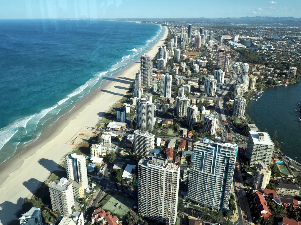 The Gold Coast as seen from Skypoint Observation Deck